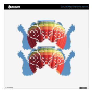 Rainbow Hot air Balloon Skins For PS3 Controllers