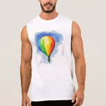 Rainbow Hot Air Balloon Sleeveless Tees