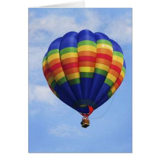 Rainbow Hot Air Ballooning blank notelet / card