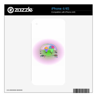 Rainbow Hot Air Balloons Skins For iPhone 4