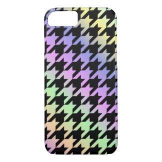 Rainbow Houndstooth Pattern Phone Case