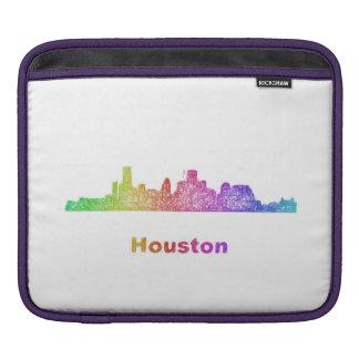 Rainbow Houston skyline Sleeve For iPads