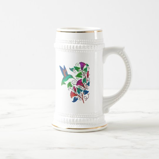 Rainbow Hummingbird Beer Stein