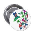 Rainbow Hummingbird Pinback Button