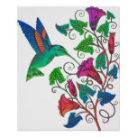 Rainbow Hummingbird Posters
