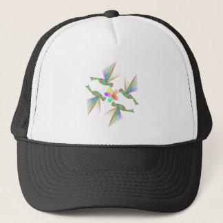 Rainbow Hummingbirds Kissing A Flower Trucker Hat
