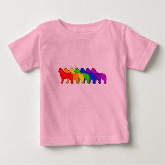 Rainbow Husky Baby T-Shirt