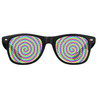 Rainbow Hypnotic Retro Sunglasses
