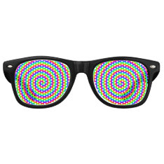 Rainbow Hypnotic Retro Sunglasses at Zazzle