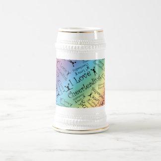 Rainbow I love cheerleading Coffee Mug