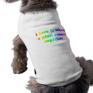 Rainbow I Love It Dog Tee