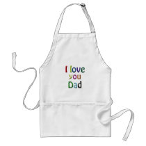 rainbow i love you dad adult apron