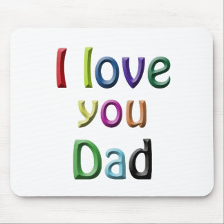 rainbow i love you dad mouse pad