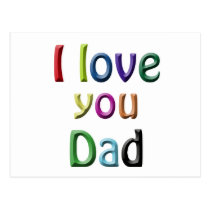 rainbow i love you dad postcard