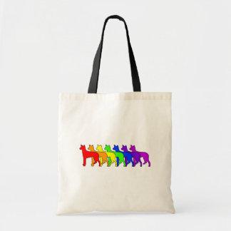 Rainbow Ibizan Budget Tote Bag