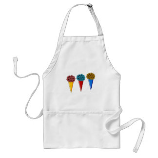 Rainbow Ice Cream Cones Adult Apron