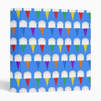Rainbow Ice Cream Cones Binders