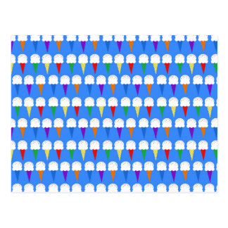 Rainbow Ice Cream Cones Postcard