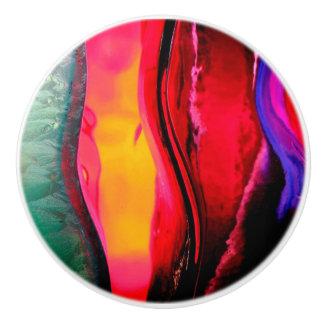 Rainbow Ice Water Color Ceramic Knob