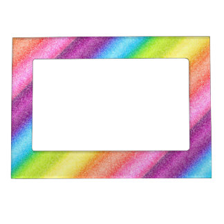 """""""Rainbow Ices"""" Picture Frame Magnets"""