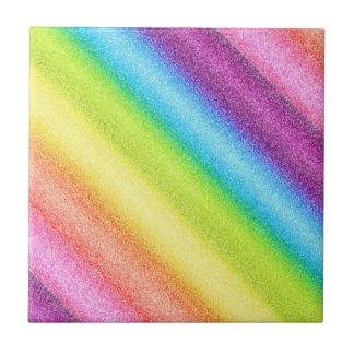 """""""Rainbow Ices"""" (Reversed) Ceramic Tile"""