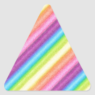 """Rainbow Ices"" Triangle Sticker"