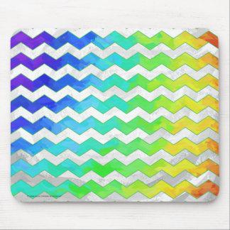 Rainbow Icy Chevron Pattern Mouse Pad