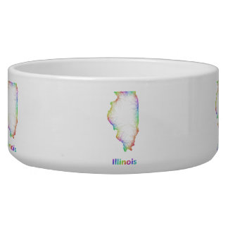 Rainbow Illinois map Bowl