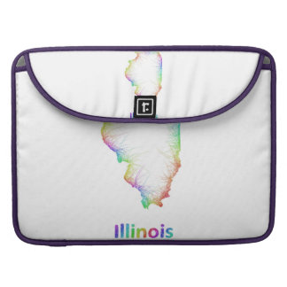 Rainbow Illinois map Sleeve For MacBooks