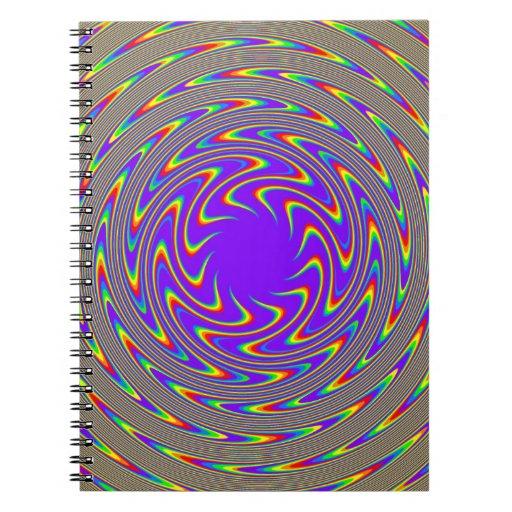 Rainbow Illusion Spiral Notebook