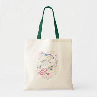 Rainbow imagination tote bags