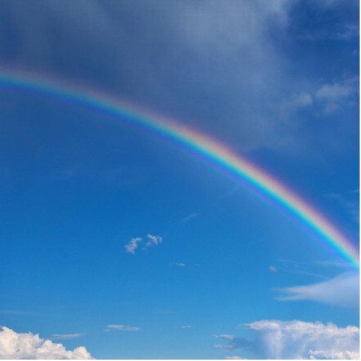 Rainbow in a Blue Sky Acrylic Cut Outs