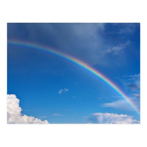 Rainbow in a Blue Sky Postcard