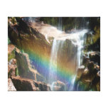 Rainbow in a waterfall gallery wrapped canvas