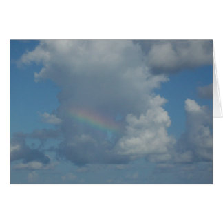 Rainbow in clouds greeting card
