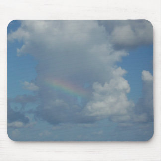 Rainbow in Clouds Mouse Pad