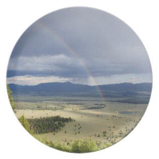 Rainbow in Grand Teton National Park Party Plates