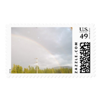 Rainbow in Idaho Postage Stamp