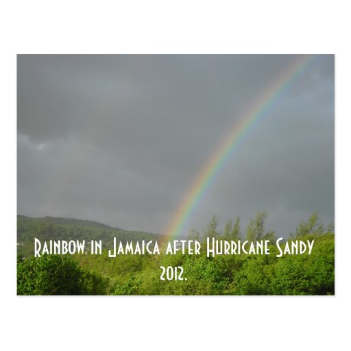 Rainbow in Jamaica after Hurricane Sandy 2012 Postcards