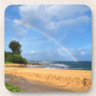 Rainbow in Kauai Beverage Coaster