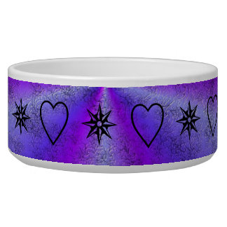 rainbow in purple and pink with stars and hearts bowl