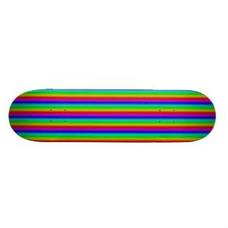 Rainbow in strips skateboard deck