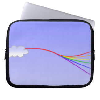 Rainbow in the Clouds Laptop Sleeves