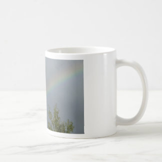 Rainbow in the Clouds Classic White Coffee Mug