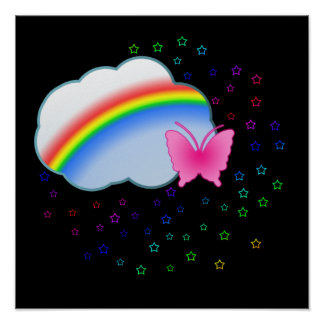 Rainbow in the Clouds Poster