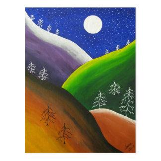 Rainbow in the Evergreens Postcard