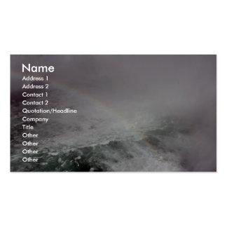 Rainbow In The Niagara Fall Business Card Templates