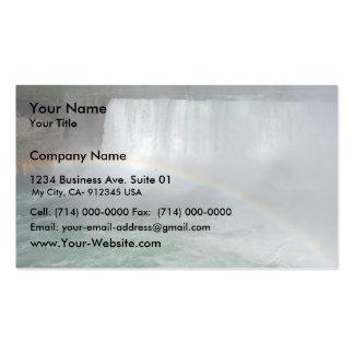 Rainbow In The Niagara Fall Business Card Template