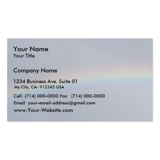 Rainbow In The Sky Double-Sided Standard Business Cards (Pack Of 100)