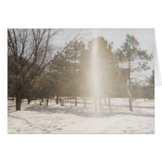 Rainbow in the Snow (blank greeting card) Card